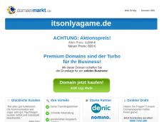 Screenshot der Domain itsonlyagame.de