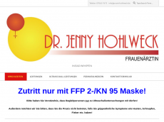Screenshot der Domain jennyhohlweck.de