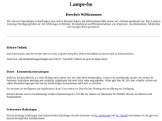 Screenshot der Domain lampe-fm.de