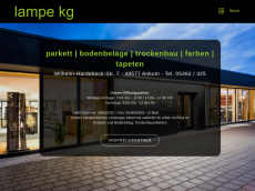 Screenshot der Domain lampe-kg.de