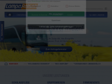Screenshot der Domain lampe-reisen.de