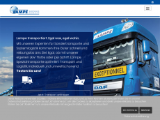 Screenshot der Domain lampe-transporte.de