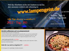 Screenshot der Domain lampengeist.de