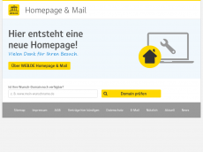 Screenshot der Domain lampenpapst.de