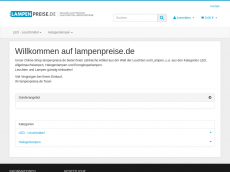 Screenshot der Domain lampenpreise.de