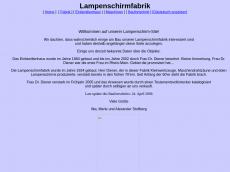 Screenshot der Domain lampenschirmfabrik.de