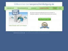 Screenshot der Domain lampenschirmfertigung.de
