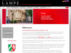 Screenshot der Domain lamperecht.de