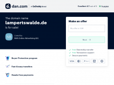 Screenshot der Domain lampertswalde.de