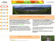Screenshot der Domain lampke.de