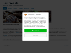 Screenshot der Domain lamprea.de