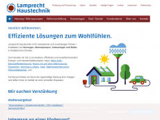 Screenshot der Domain lamprecht-haustechnik.de