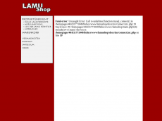 Screenshot der Domain lamu-shop.de