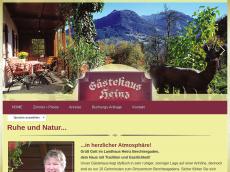 Screenshot der Domain landhaus-heinz.de