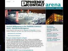 Screenshot der Domain lipperlandhalle.de