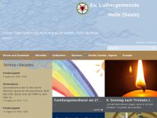 Screenshot der Domain luthergemeinde-halle.de