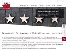 Screenshot der Domain lzh-laser-akademie.de