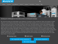 Screenshot der Domain mader-technik.de