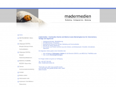 Screenshot der Domain madermedien.de