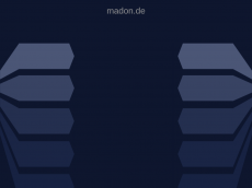 Screenshot der Domain madon.de