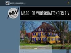 Screenshot der Domain marcher-wirtschaftskreis.de