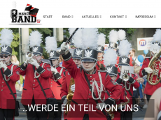 Screenshot der Domain marchingband-lauf.de