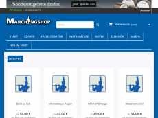 Screenshot der Domain marchingshop.de