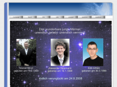 Screenshot der Domain marci-erik-alex.de