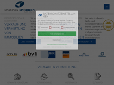 Screenshot der Domain marcinek-immobilien.de