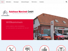 Screenshot der Domain marcinek.de