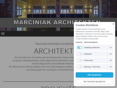 Screenshot der Domain marciniak-architekten.de
