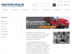 Screenshot der Domain marciniak-shop.de