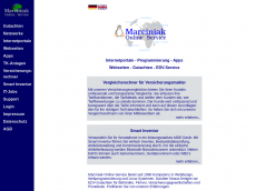 Screenshot der Domain marciniak.de