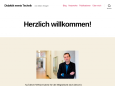 Screenshot der Domain marckrueger.de