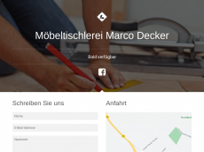 Screenshot der Domain marco-decker.de
