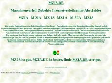 Screenshot der Domain mzia.de