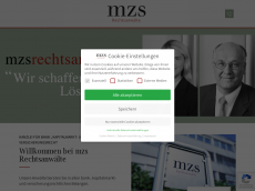 Screenshot der Domain mzs-recht.de