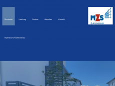 Screenshot der Domain mzs-zaunbau.de