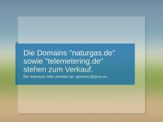 Screenshot der Domain naturgas.de