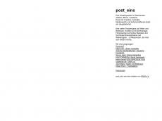 Screenshot der Domain post-eins.de