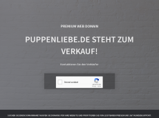 Screenshot der Domain puppenliebe.de