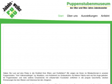 Screenshot der Domain puppenstubenmuseum.de