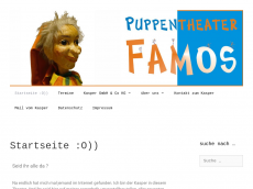 Screenshot der Domain puppentheater-famos.de