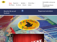 Screenshot der Domain puppentheaterplappermaul.de