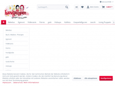 Screenshot der Domain puppets-shop.de