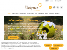 Screenshot der Domain pupur-kinderwelt.de