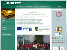 Screenshot der Domain pur-tec.de