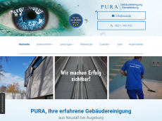 Screenshot der Domain pura.de