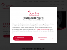 Screenshot der Domain puratos.de