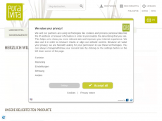 Screenshot der Domain puravita-shop.de